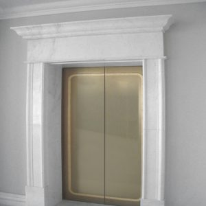 white carrara marble frame