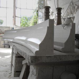 white carrara marble elements