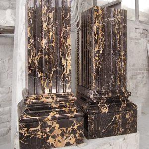 portoro marble columns