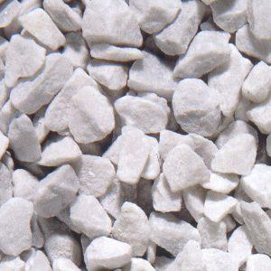 white carrara marble gravel