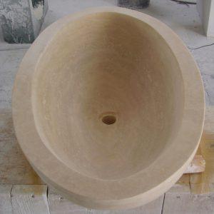 lavabo ovale travertino