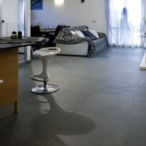 Gray ardesia stone floor