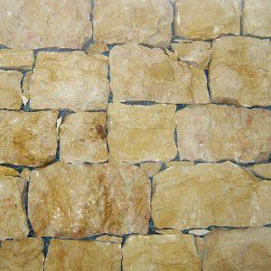 rivestimento pietra retrosegato giallo re
