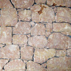 pink garda stone covering sawn cut