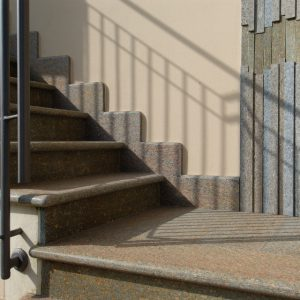 luserna stone stair flamed top