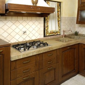 kitchen sink and top made of quarzirenite stone