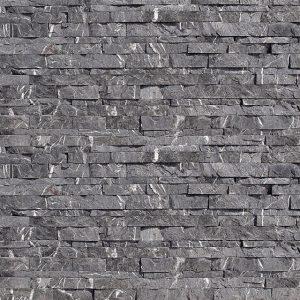 rivestimento pietra spaccatello nero marquinia