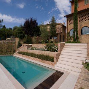 pink prun stone pool