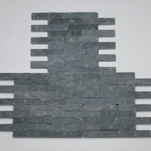listelli rivestimento nero pietra quarzite rete hyms082
