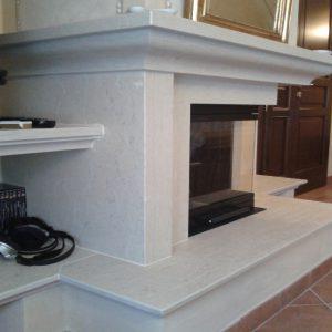 prun stone fireplace