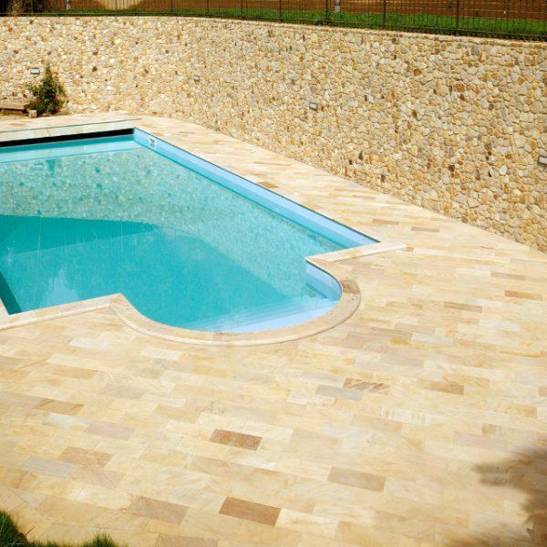 brazilian quartzite stone pool