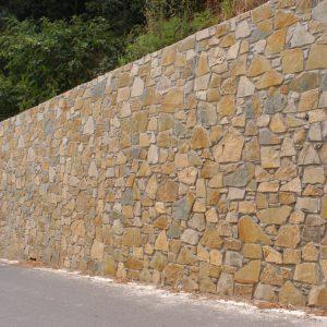 quarzirenite stone wall