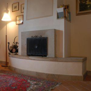 quarzirenite stone fireplace