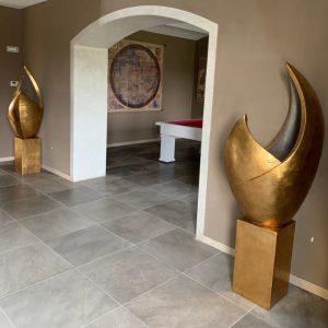 vasi terracotta e foglia oro