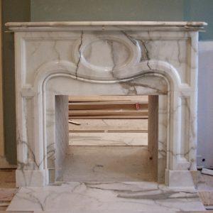 calacatta marble fireplace