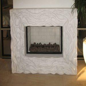 camino marmo bianco carrara