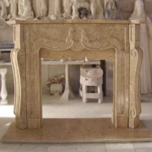 light travertine scabas fireplace