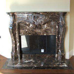 ebano stone fireplace