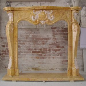 yellow egyptian marble fireplace
