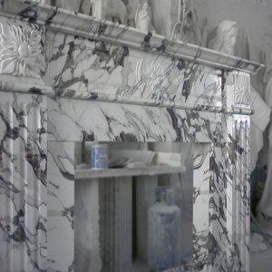 Arabescato corchia marble fireplace