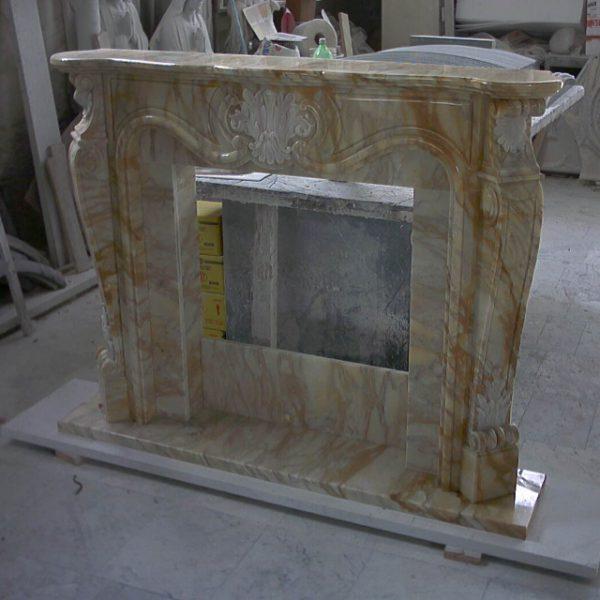 camino marmo giallo siena