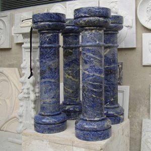 blue sodalite marble columns