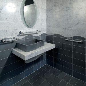 bardiglio marble bathroom