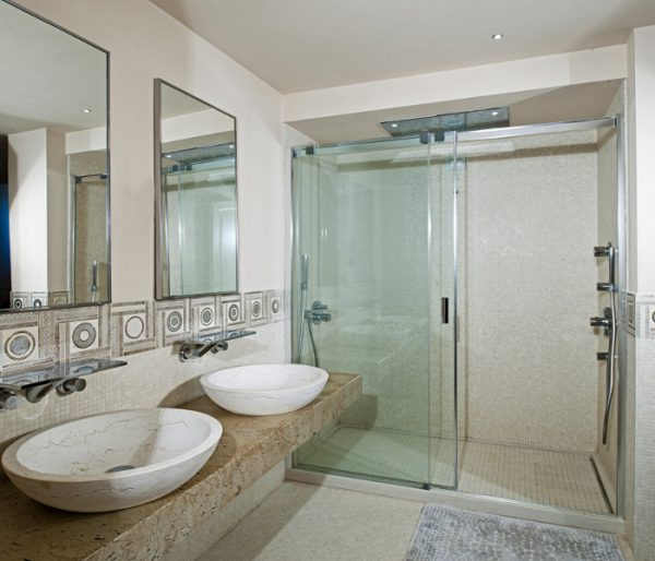 bagno marmo pietra bianco perlino