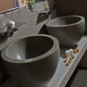 bathroom in yuna dark stone
