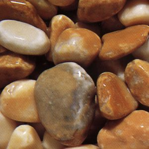 yellow siena marble pebbles