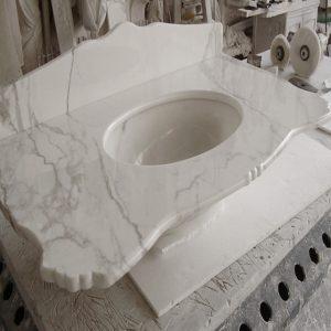 lavabo bagno marmo calacatta