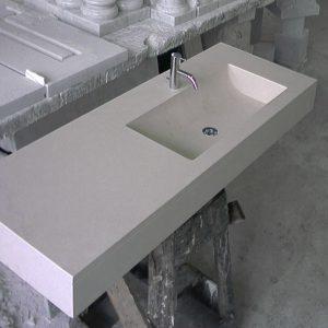 bathroom sink in brera stone