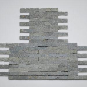 listelli rivestimento grigio pietra quarzite rete hyms085