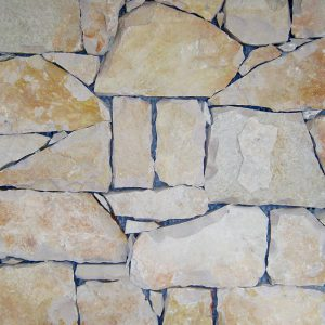 rivestimento pietra retrosegato giallo deserto