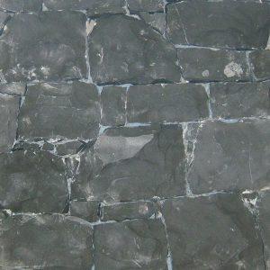 black stone covering sawn back