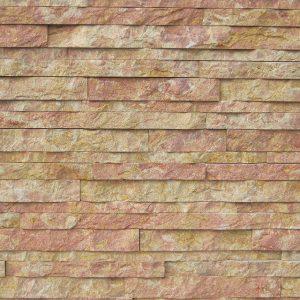 rivestimento pietra spaccatello giallo rosato