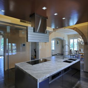kitchen top made of bardiglio marble