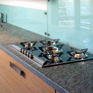 kitchen top made of luserna stone