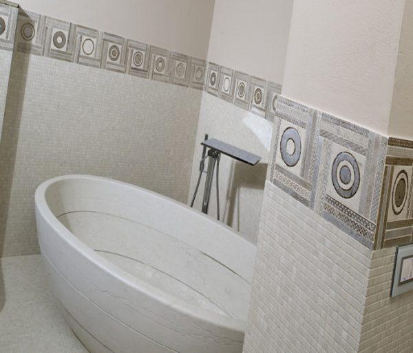 vasca bagno marmo pietra bianco perlino