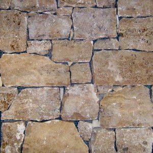 rivestimento pietra retrosegato travertino noce