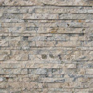 rivestimento pietra spaccatello travertino noce