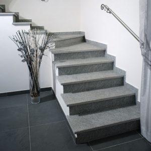 gray luserna stone stair